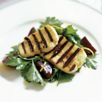 Grilled Halloumi with beetroot, parsley and lemon salad recipe
