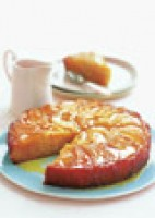 Easy peach drizzle cake recipe