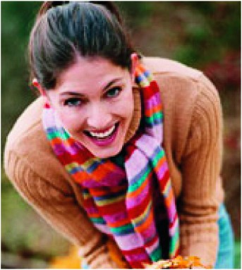 Scarf, beauty, laughing, happy, bright, womand and home