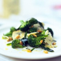 Broccoli, Blue Cheese and Pine Nut Salad