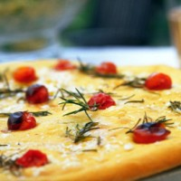 Cherry tomato and rosemary focaccia recipe