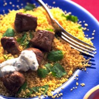 Couscous with coriander and chickpeas recipe