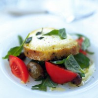 Marinated grilled goats' cheese salad recipe