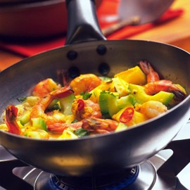 Malaysian-Spiced Prawns with Pineapple Recipe