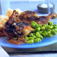 Phil Vickery's grilled guinea fowl with limes recipe