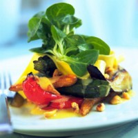 Phil Vickery's Baked Summer Vegetables with Hazelnut Dressing