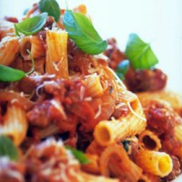 Rigatoni with Fennel and Sausage Ragu
