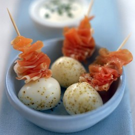 Quails' eggs with parma ham-parma ham recipes-new recipes-recipe ideas-woman and home