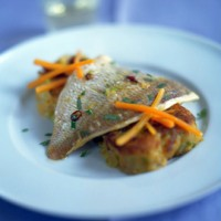 Slow-roast red snapper with sweet potato bubble and squeak recipe