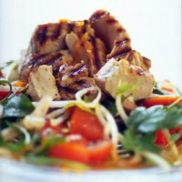 Seared fresh tuna salad with red curry dressing recipe