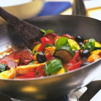 Spanish chicken with chorizo and olives recipe