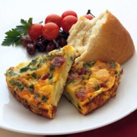 Tortilla with spicy chorizo recipe