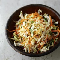Vietnamese chicken salad with Chinese cabbage and bean sprouts recipe