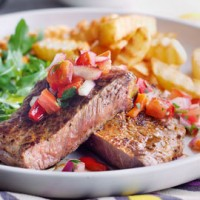 Steak and salsa recipe