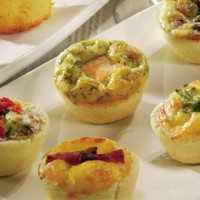 Donald Russell canape quiches