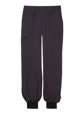 Jigsaw black silk cuff trousers-fashion-woman and home magazine 