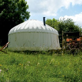 April 10 - travel - Cotswold yurts