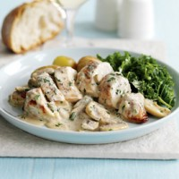 Chicken breasts with quick mushroom sauce recipe