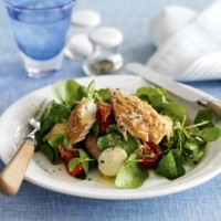 Smoked mackerel, potatoes and tomatoes with horseradish recipe