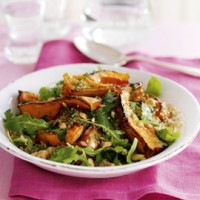 Nutty roasted butternut squash, quinoa and rocket salad recipe