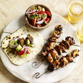 cajon tacos-chicken skewers recipe-summer recipes-recipe ideas-woman and home
