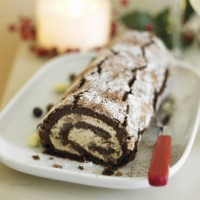 Chocolate and chestnut Christmas log recipe