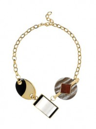 Jaeger Crystal and Wood Necklace