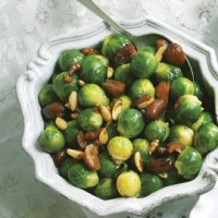 Brussels sprouts with foaming rosemary butter recipe