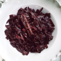 Balsamic, red wine and orange-braised red cabbage recipe
