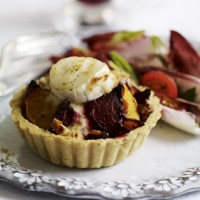 Beetroot, Butternut and Goats' Cheese Tartlets