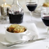 Beef and ale casserole with rarebit topping recipe