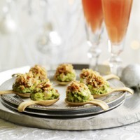 Citrus Crab and Guacamole Pastry Spoons