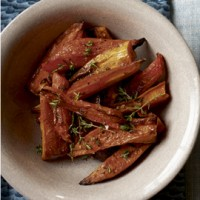 Sweet potatoes and carrots with thyme recipe