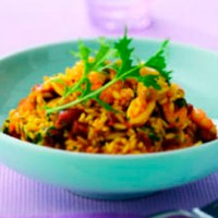 Seafood, saffron and chorizo risotto recipe