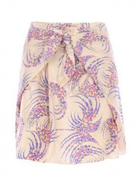Vanessa Bruno Flower Print Wrap Skirt