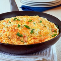Smoked salmon souffl omelette recipe