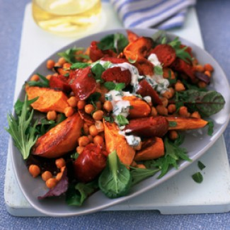 Chorizo and sweet potato salad