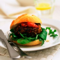 Low-Fat Lamb Burger