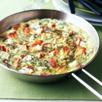 Salmon and Cream Cheese Frittata