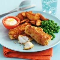 Chunky fish fingers and chips recipe