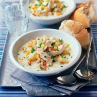 Chicken and sweetcorn chowder recipe