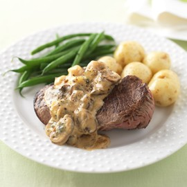 Steak with Stilton, mushrooms and Masala sauce-steak recipes-woman and home