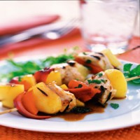 Chicken and Mango Kebabs