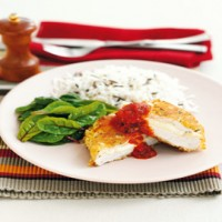 Chicken and mozzarella kievs recipe