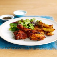 Peri-peri chicken and spicy potato wedges recipe