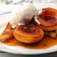 Caramelised nectarines on toast with Amaretto recipe