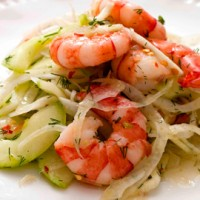 Prawn and fennel salad recipe