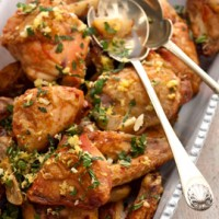 Roasted chicken with preserved lemons and mint gremolata recipe