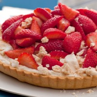 Strawberry meringue tart recipe