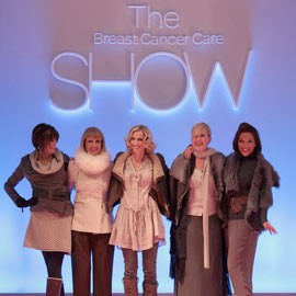 Breast Cancer Care London Fashion Show-woman and home events